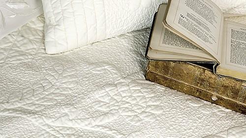 Leonora Ecru Cotton Quilt