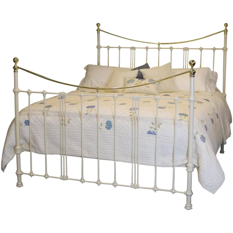 6ft Cream Bed with Art Nouveau Castings