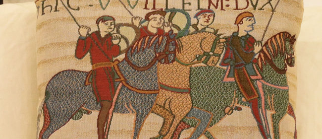 Tapestry Cushion – Bayeux Cavalry