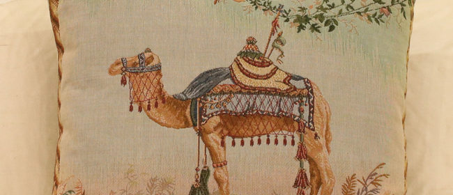 Tapestry Cushion – Camel