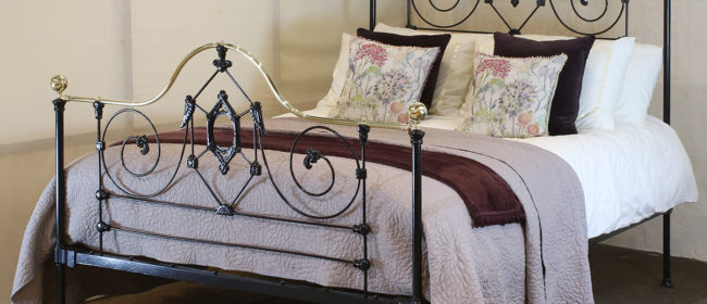 Black Mid Victorian Antique Bed MK210