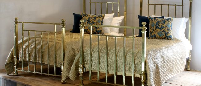 Superb Edwardian All Brass Pair of Antique Beds MPS42