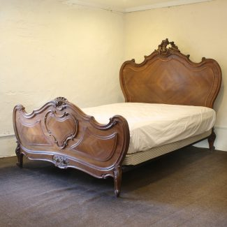 Louis-XV-Style-Antique-Bed-in-Walnut-WK145