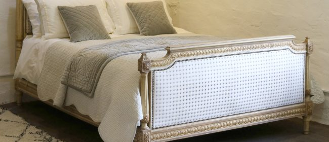 Louis XVI Style Bed with Upholstered Panels WK154