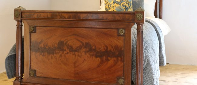 French Empire Style Mahogany Antique Bed WS13