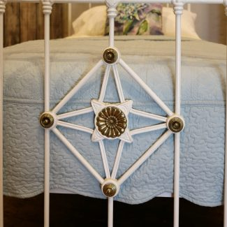 Antique-White-Decorative-Brass-and-Iron-Single-Bed-MS48