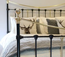Black-Antique-Bed-With-Decorative-Castings-MK236